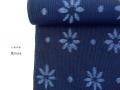 【木綿着物】久留米絣キモノー現代的な色柄、昔ながらの伝統ー花hana(送料無料・反物のみ / お仕立て可能)