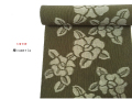 【木綿着物】久留米絣キモノー現代的な色柄-椿cameria(送料無料・反物/仕立可能)