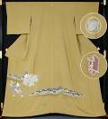 特別価格二代目由水十久作加賀友禅色留袖「万歳」丸に違い柏裄長購入時価格350万円