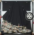 黒留袖 祇園山鉾巡行図★巾広サイズ