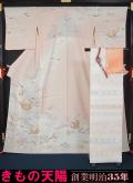 新品仕立上品 夏物 紗の付下げ訪問着と袋帯、帯揚げ、帯〆の4点セット