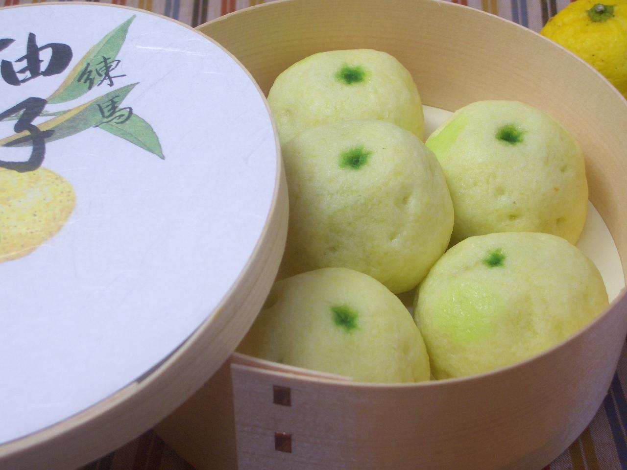 柚子饅頭 わっぱ