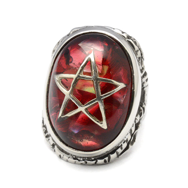 ALEX STREETER(アレックスストリーター)  ANGEL HEART RING CLACK RED エンジェルハートリング クラック赤 ALR371C RED