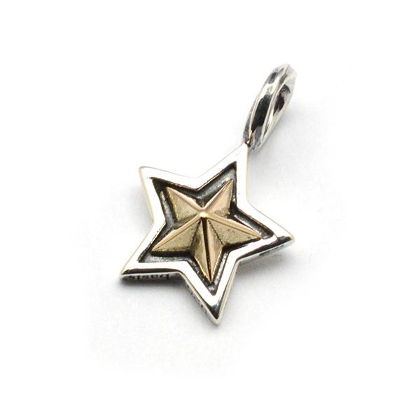 basis(ベイシス)bap018-K10 spiral star K10 スパイラルスターペンダントK10 GOLD