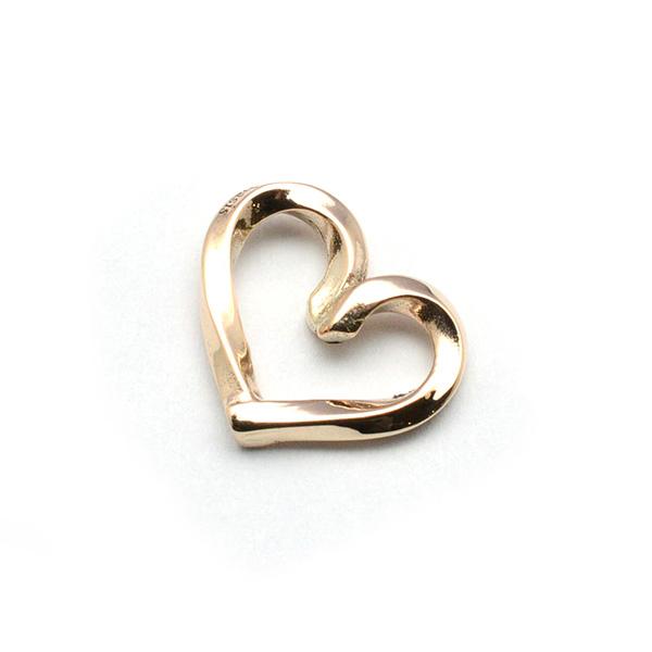 basis(ベイシス)bap020-K10YG spiral heart K10 スパイラルハートペンダントK10 GOLD