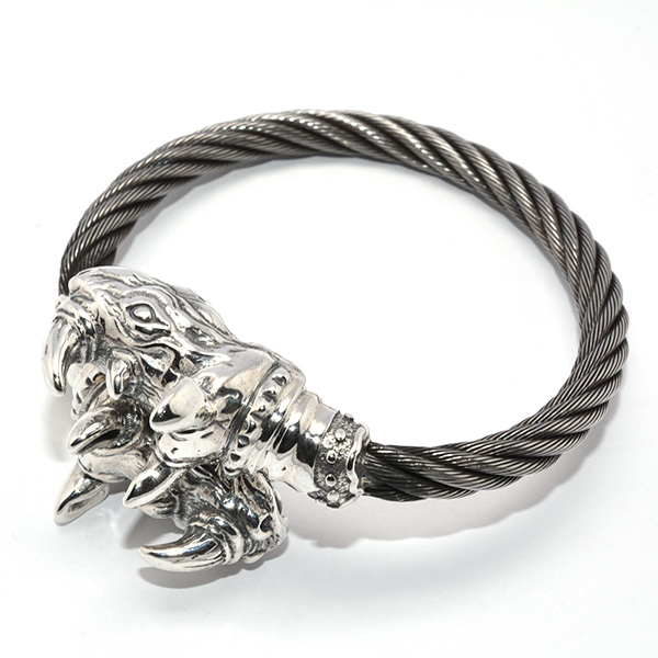 BWL(ビルウォールレザー)B567R BWL Rhino Cable Bangle