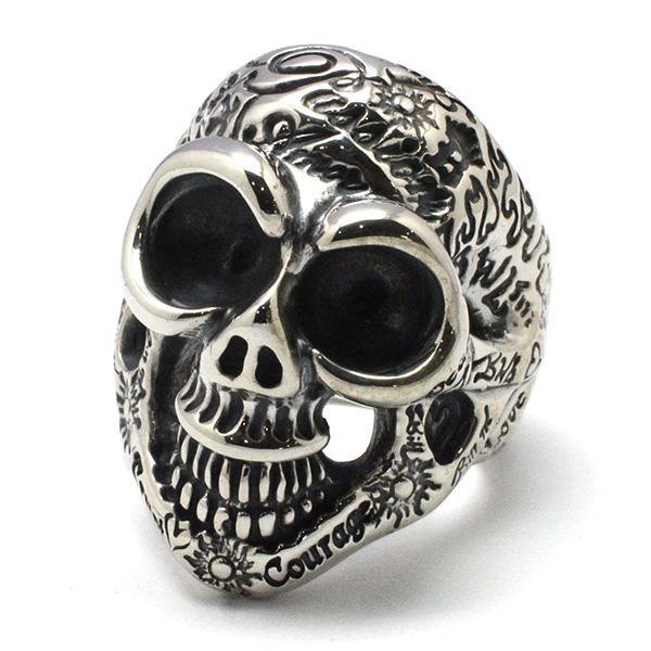 BWL(ビルウォールレザー)R408GR/Graffiti Master Skull Medium Ring グラフィティマスタースカルミディアムリング