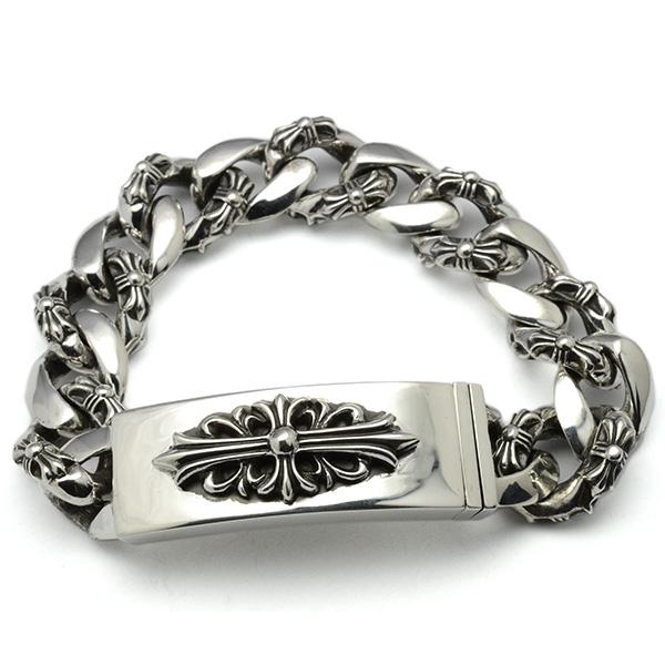 CHROME HEARTS(クロムハーツ)ID Floral Fancy Chain Bracelet chb60
