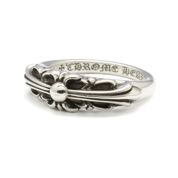 CHROME HEARTS(クロムハーツ)Ring-BBYCLSC/FLRLCRS ベイビークラシックリング フローラルクロス