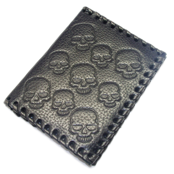 CRAZY PIG DESIGNS(クレイジーピッグ) EVILL SKULL CARD CASE/BK