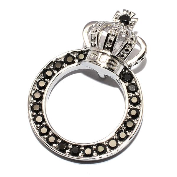DUB Collection(ダブコレクション)DUBj-296-1 BK Crown Ring Necklace クラウンリングネックレス【TOPのみ】