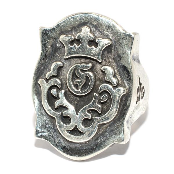 Gaboratory(ガボラトリー) Raised Shield Gaboratory Logo Ring レイズドシールドガボラトリーロゴリング