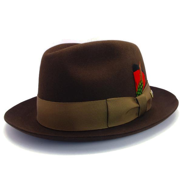 KNOX(ノックス) 【日本製最高品質帽子】マーキュリーハット ラビットファーフェルト100% KNT378(ブラウン)