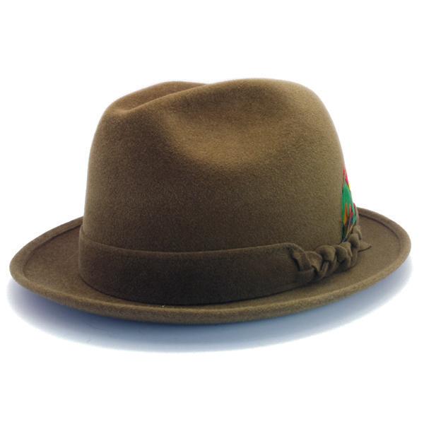 KNOX(ノックス) 【日本製最高品質帽子】チロルハット ラビットファーフェルト100% KNT358(モカ)