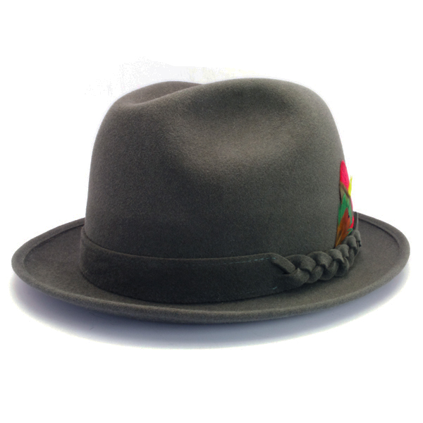 KNOX(ノックス) 【日本製最高品質帽子】チロルハット ラビットファーフェルト100% KNT338(グレー)