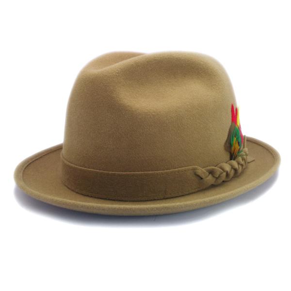 KNOX(ノックス) 【日本製最高品質帽子】チロルハット ラビットファーフェルト100% KNT359(ベージュ)
