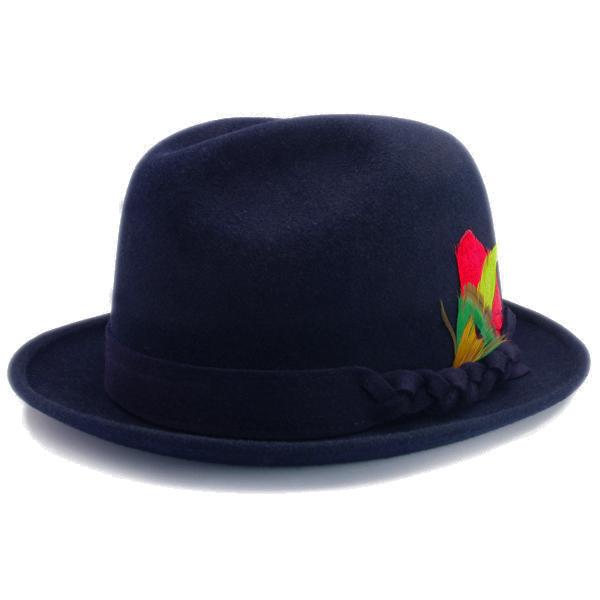 KNOX(ノックス) 【日本製最高品質帽子】チロルハット ラビットファーフェルト100% KNT398(ネイビー)