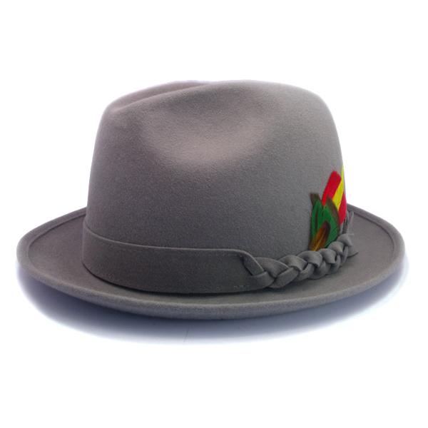 KNOX(ノックス) 【日本製最高品質帽子】チロルハット ラビットファーフェルト100% KNT318(ライトグレー)