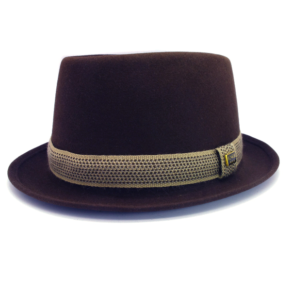 KNOX(ノックス) 【日本製最高品質帽子】プレインポークパイハット ラビットファーフェルト100% KFSP378(ブラウン)