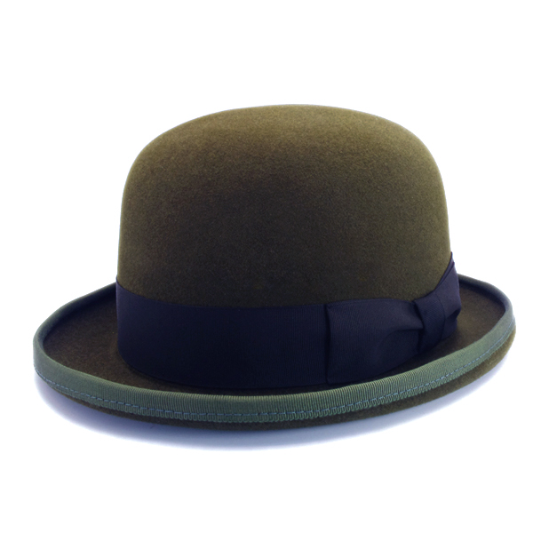 KNOX(ノックス) 【日本製最高品質帽子】ボーラーハット ラビットファーフェルト100% KBWL388(オリーブ)