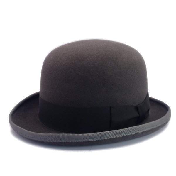 KNOX(ノックス) 【日本製最高品質帽子】ボーラーハット ラビットファーフェルト100% KBWL328(チャコール)