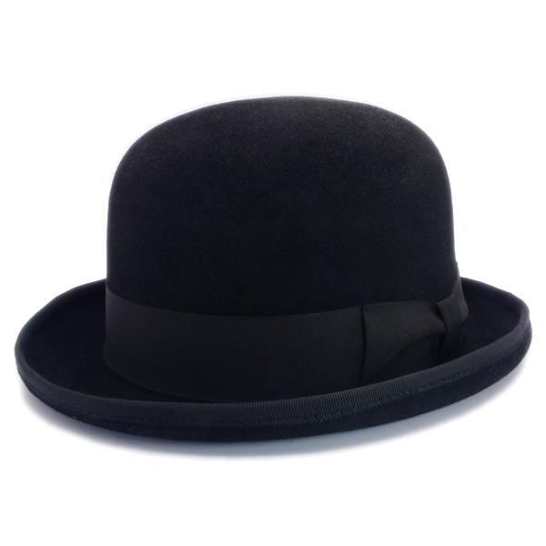 KNOX(ノックス) 【日本製最高品質帽子】ボーラーハット ラビットファーフェルト100% KBWL348(ブラック)