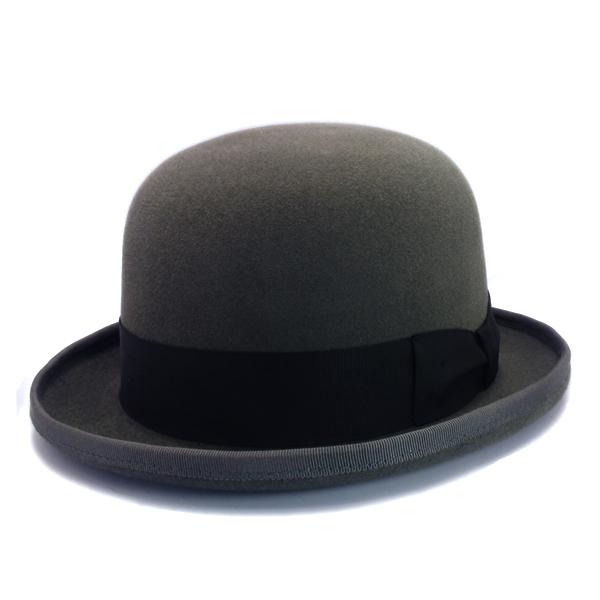 KNOX(ノックス) 【日本製最高品質帽子】ボーラーハット ラビットファーフェルト100% KBWL338(グレー)