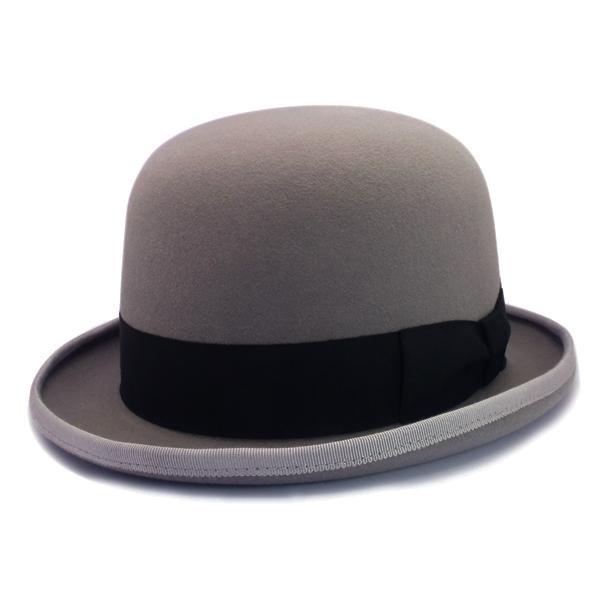 KNOX(ノックス) 【日本製最高品質帽子】ボーラーハット ラビットファーフェルト100% KBWL318(ライトグレー)