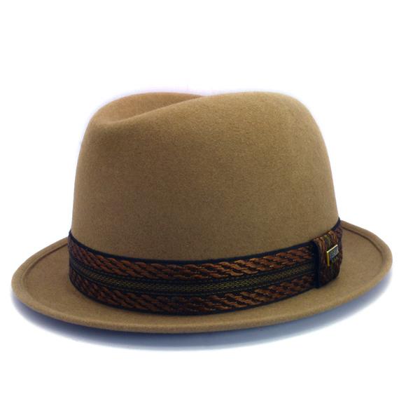 KNOX(ノックス) 【日本製最高品質帽子】コツバチロルハット ラビットファーフェルト100% KFNB359(ベージュ)
