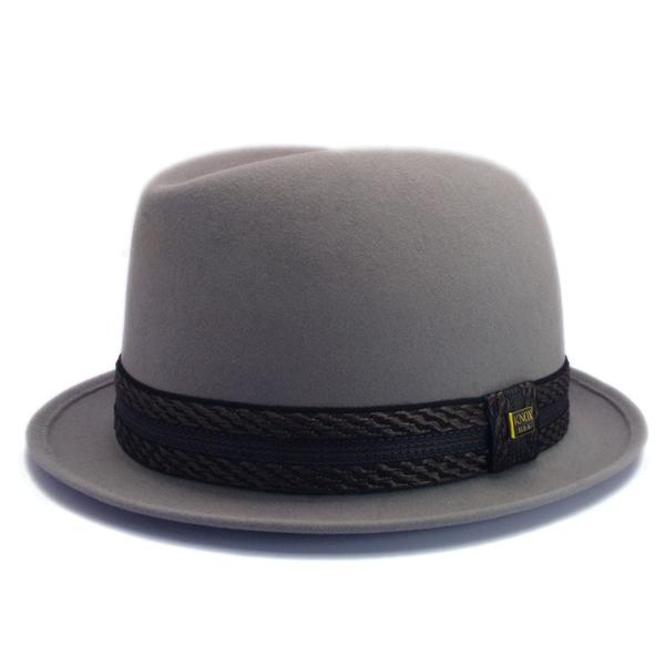 KNOX(ノックス) 【日本製最高品質帽子】コツバチロルハット ラビットファーフェルト100% KFNB318(ライトグレー)