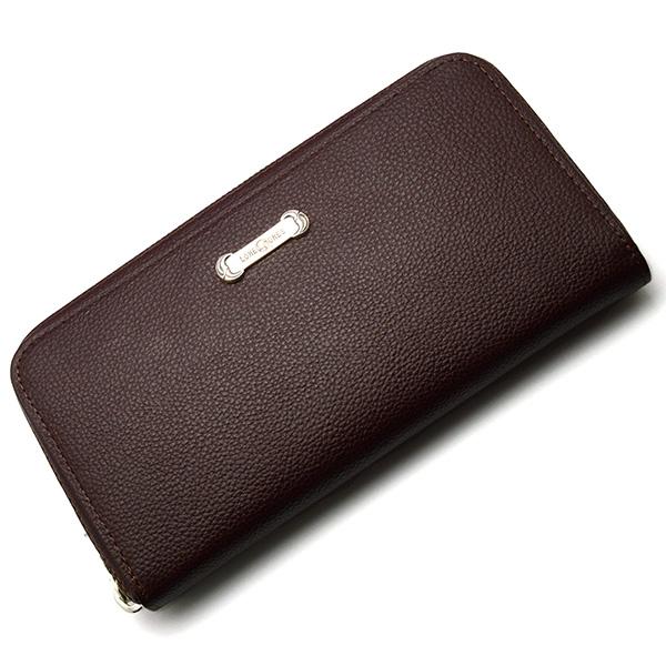 LONE ONES(ロンワンズ) Zipper Long Wallet SV Plate Brown MFW-0013-P-BRN