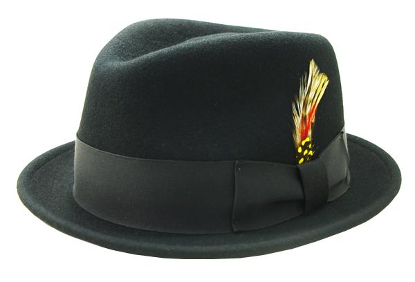 NEW YORK HAT(ニューヨークハット) ハット THE DROP STINGY FEDORA/ブラック 5329