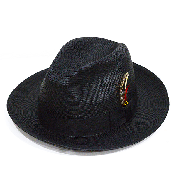 NEW YORK HAT(ニューヨークハット) ハット SEWN BRAID TRADITONAL/BLACK 2318