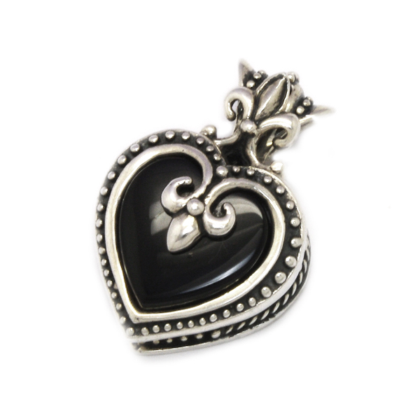 ROYAL ORDER(ロイヤルオーダー)  SMALL MAGESTIQUE HEART LOCKET W/ONYX 【SP659】