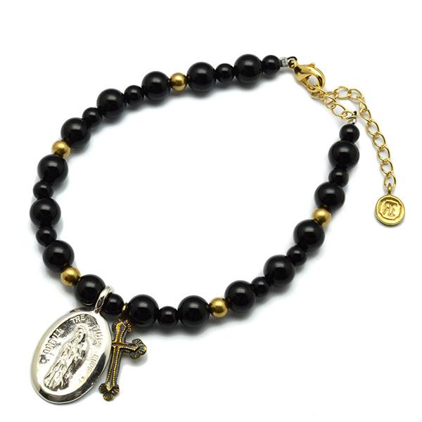 SAHRIVAR (シャフリーバル) Notre Dame Onyx Bracelet SB10S13S