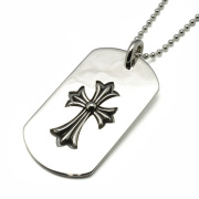 CHROME HEARTS(クロムハーツ)Dog Tag Cut Out CH Cross/Tiny CH Cross