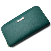 LONE ONES(ロンワンズ) Zipper Long Wallet SV Plate Green MFW-0013-P-GRN