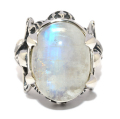CRAZY PIG DESIGNS(���쥤�����ԥå�) Twin Skeleton Ring/ light labradrite #1054 �ĥ��󥹥���ȥ󡡥饤�ȥ�֥�ɥ饤��