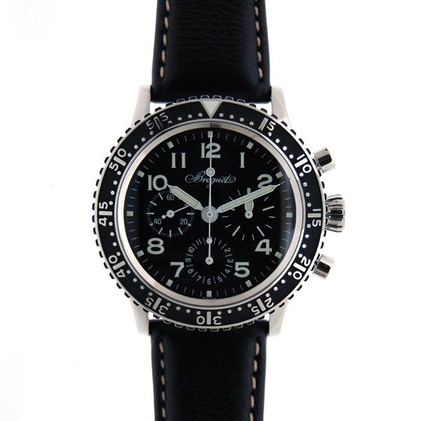 ブレゲ BREGUET アエロナバル タイプXX 3803ST/92/3W6 ブラック 世界1000本限定  革ベルト 新品 アウトレット