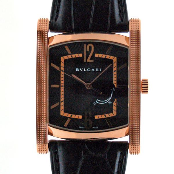 ブルガリ BVLGARI アショーマ パワーリザーブ AAP48BGL ピンクゴールド ブラック 手巻き 新品