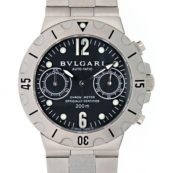 ブルガリ BVLGARI スクーバクロノ SC38SSD メンズ SS 38mm 新品