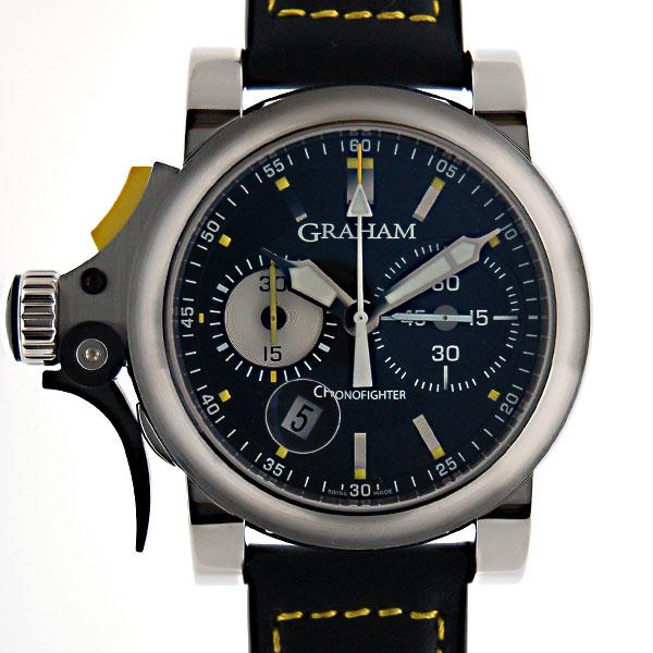 グラハム GRAHAM クロノファイター R.A.C トリガー 2TRAS.B01A.L95B SS 46mm ブラック 新品