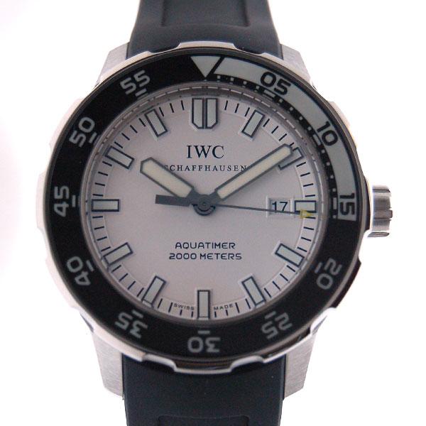 IWC インターナショナルウォッチカンパニー アクアタイマー IW356811 ホワイト SS ラバー 2000m防水 新品
