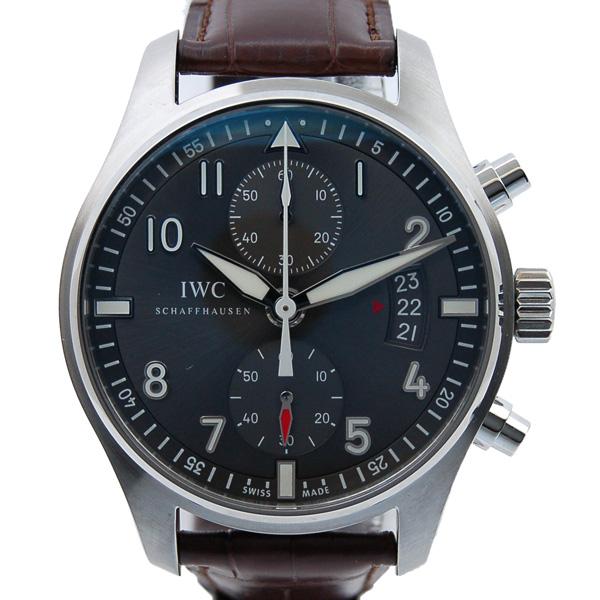 IWC インターナショナルウォッチカンパニー パイロットウォッチ スピットファイア クロノグラフ IW387802 自動巻 SS 革ベルト 43mm 新品