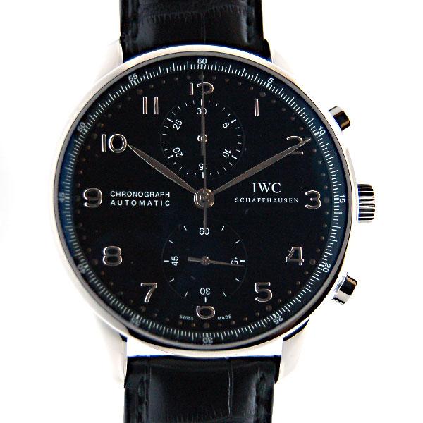 IWC インターナショナルウォッチカンパニー ポルトギーゼ IW371447 ブラック SS 自動巻 革 Dバックル 新品
