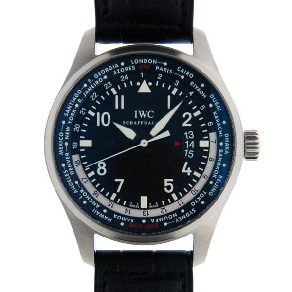 IWC パイロットウォッチ ワールドタイマー IW326201 SS ブラック 自動巻 革 新品