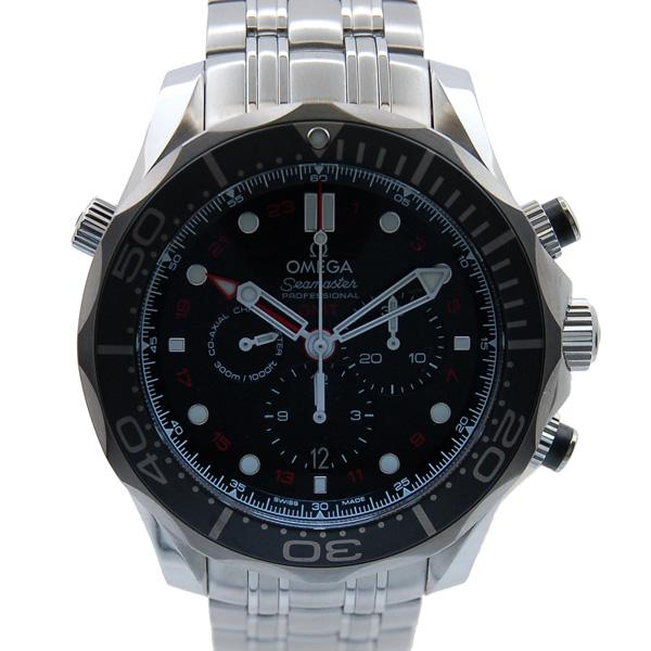 オメガ OMEGA シーマスター300 コーアクシャル GMT クロノグラフ 212.30.44.52.01.001 ブラック 44mm 新品