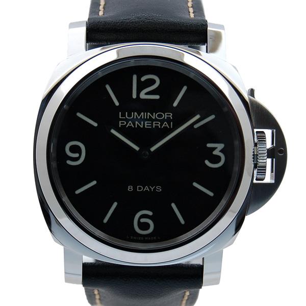 パネライ PANERAI ルミノールベース 8デイズ アッチャイオ PAM00560 SS 44mm 手巻き ブラック 新品