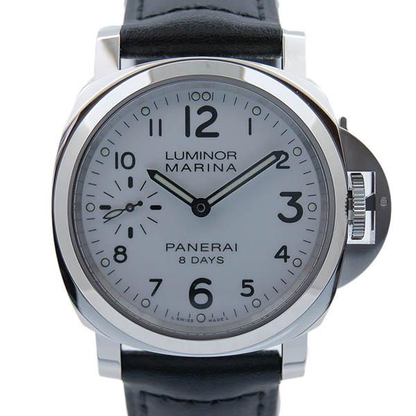 パネライ PANERAI ルミノールマリーナ 8デイズ アッチャイオ PAM00563 SS 44mm 手巻き ホワイト 新品