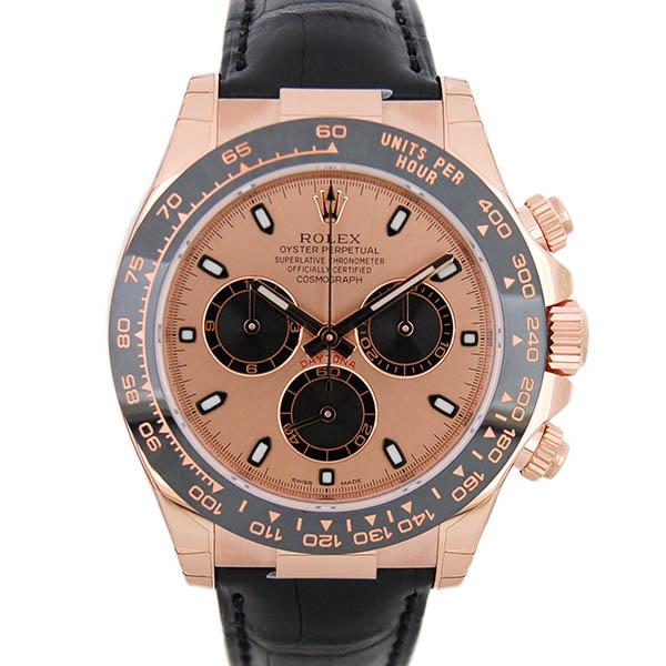 ロレックス ROLEX デイトナ Ref.116515LN K18RG セラミックベゼル 40mm ピンク/ブラック 革ベルト 新品
